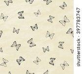 set of hand drawn butterflies.... | Shutterstock .eps vector #397783747