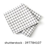 squared kitchen towel isolated... | Shutterstock . vector #397784107
