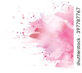 vector watercolor pink... | Shutterstock .eps vector #397787767