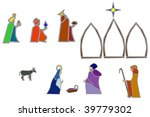 stained glass style nativity... | Shutterstock .eps vector #39779302