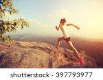 young asian woman runner... | Shutterstock . vector #397793977