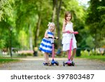 two adorable little sisters... | Shutterstock . vector #397803487
