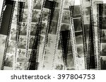 Stack Of Old Films On The Ligh...