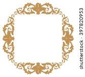 premium gold vintage baroque... | Shutterstock .eps vector #397820953