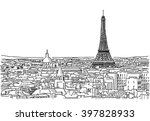 about the roofs of paris... | Shutterstock .eps vector #397828933