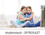 people  children  television ... | Shutterstock . vector #397831627
