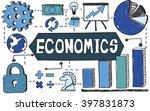 economics economy finance... | Shutterstock . vector #397831873