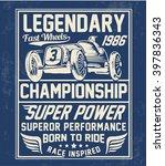 Vector Vintage Sport Racing Ca...