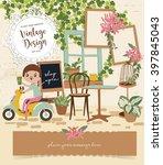cute vintage vector elements 5   Shutterstock .eps vector #397845043