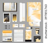 white identity template with... | Shutterstock .eps vector #397851763