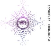 sacred geometry symbol with all ... | Shutterstock .eps vector #397858273