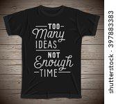 hand drawn lettering slogan on... | Shutterstock .eps vector #397883383