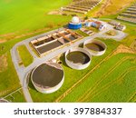 aerial view to biogas plant... | Shutterstock . vector #397884337