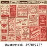 mega pack retro advertisement... | Shutterstock .eps vector #397891177