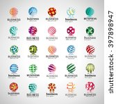 sphere icons set isolated on... | Shutterstock .eps vector #397898947