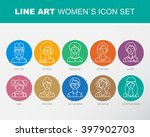 modern thin contour line icons... | Shutterstock . vector #397902703