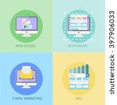 web design concept. e mail... | Shutterstock . vector #397906033