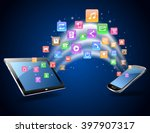 futuristic mobile phone vector... | Shutterstock .eps vector #397907317