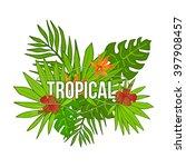 summer tropical background of... | Shutterstock .eps vector #397908457