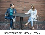 Two Smiling Young People With...