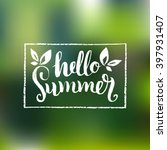 hello summer vector... | Shutterstock .eps vector #397931407