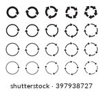 set of black circle vector... | Shutterstock .eps vector #397938727