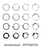 set of grey circle vector arrows | Shutterstock .eps vector #397938733