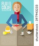 flu and cold season ahead... | Shutterstock .eps vector #397943233