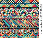 ancient mexican aztec colorful... | Shutterstock .eps vector #397943557