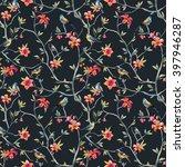 watercolor seamless pattern... | Shutterstock . vector #397946287