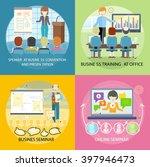 set of banner seminar training... | Shutterstock .eps vector #397946473