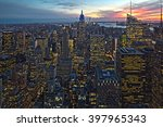 view of the new york evening | Shutterstock . vector #397965343