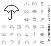 linear accessories icons set....