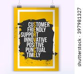 customer service quote on...   Shutterstock .eps vector #397981327