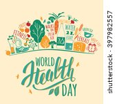 world health day concept with... | Shutterstock .eps vector #397982557