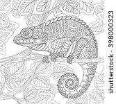 zentangle stylized cartoon... | Shutterstock .eps vector #398000323