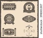 set of barber shop vintage... | Shutterstock .eps vector #398001307