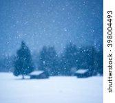 christmas winter background...   Shutterstock . vector #398004493