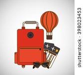 travel icon design | Shutterstock .eps vector #398023453