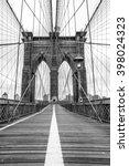 famous brooklyn bridge in new... | Shutterstock . vector #398024323