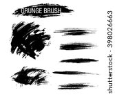 vector set of grunge brush... | Shutterstock .eps vector #398026663