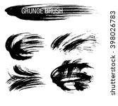 vector set of grunge brush... | Shutterstock .eps vector #398026783