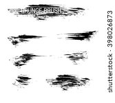 vector set of grunge brush... | Shutterstock .eps vector #398026873