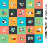 flat conceptual icons set of... | Shutterstock .eps vector #398028613
