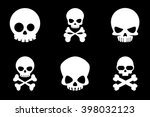 skull and crossbones icons in... | Shutterstock .eps vector #398032123