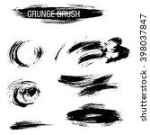 vector set of grunge brush... | Shutterstock .eps vector #398037847