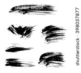 vector set of grunge brush... | Shutterstock .eps vector #398037877
