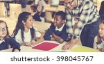 study studying learn learning... | Shutterstock . vector #398045767