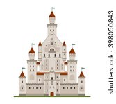 fairytale royal castle or... | Shutterstock .eps vector #398050843