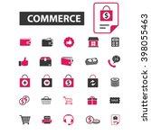commerce icons  | Shutterstock .eps vector #398055463